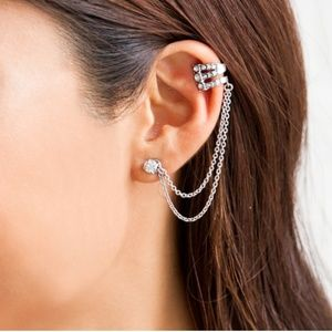 Ethereal Chandelier Ear Cuff and Stud